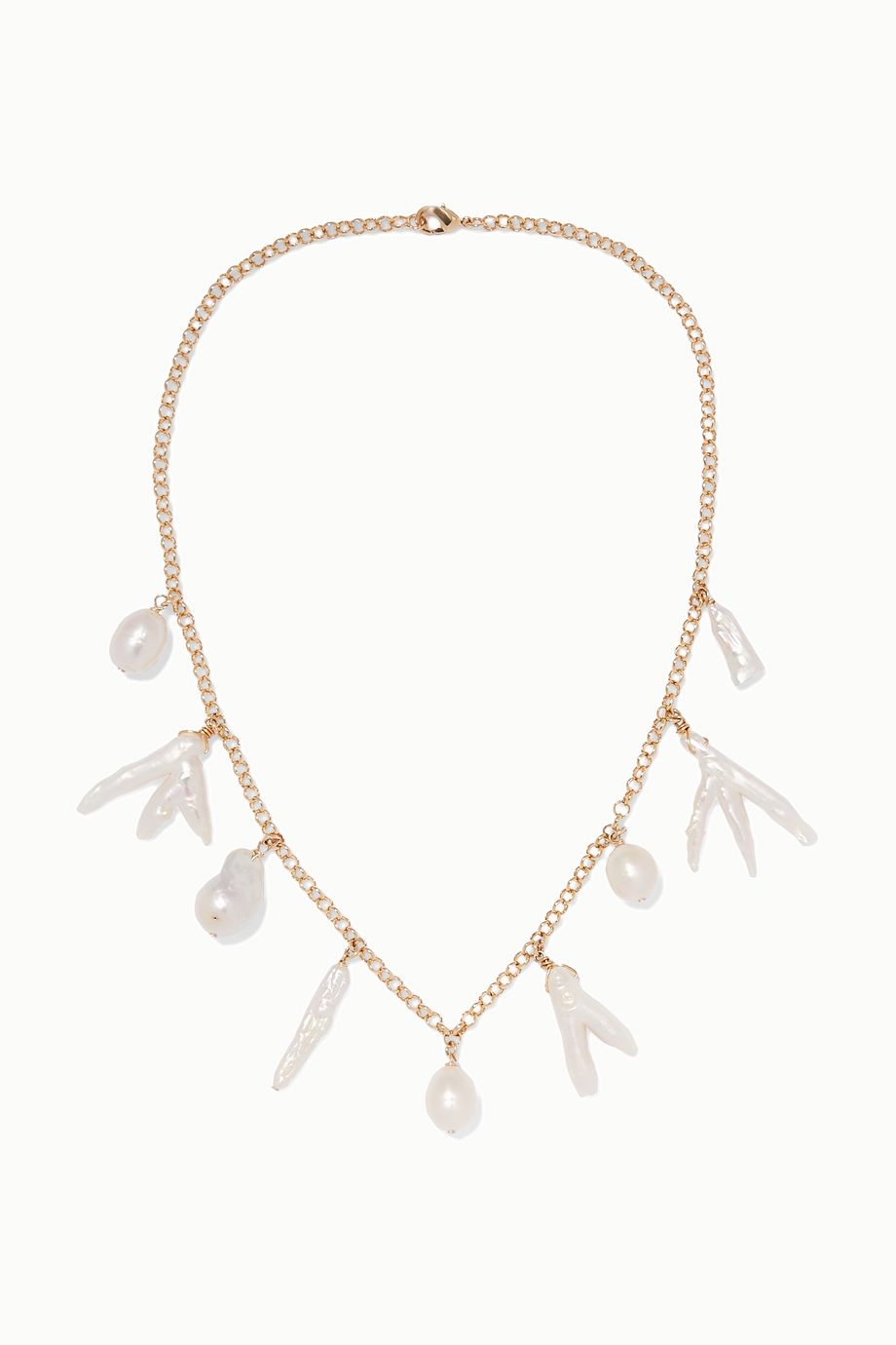 éliou Porto gold-plated pearl necklace
