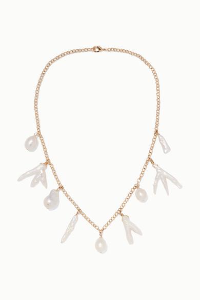 ELIOU | Eliou - Porto Gold-Plated Pearl Necklace - One Size | Goxip