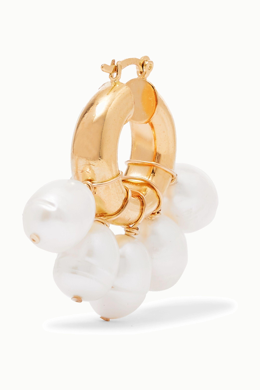 éliou Kavala gold-plated pearl earrings