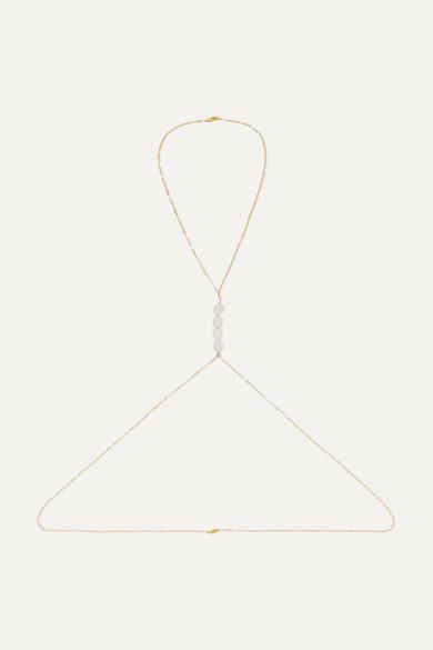 ELIOU | Eliou - Gold-Filled Pearl Body Chain - One Size | Goxip