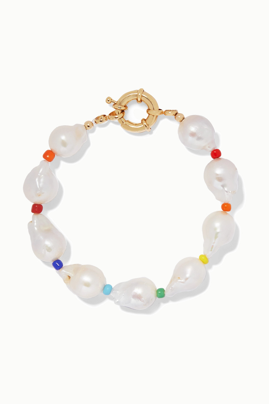 éliou Asti pearl and bead anklet