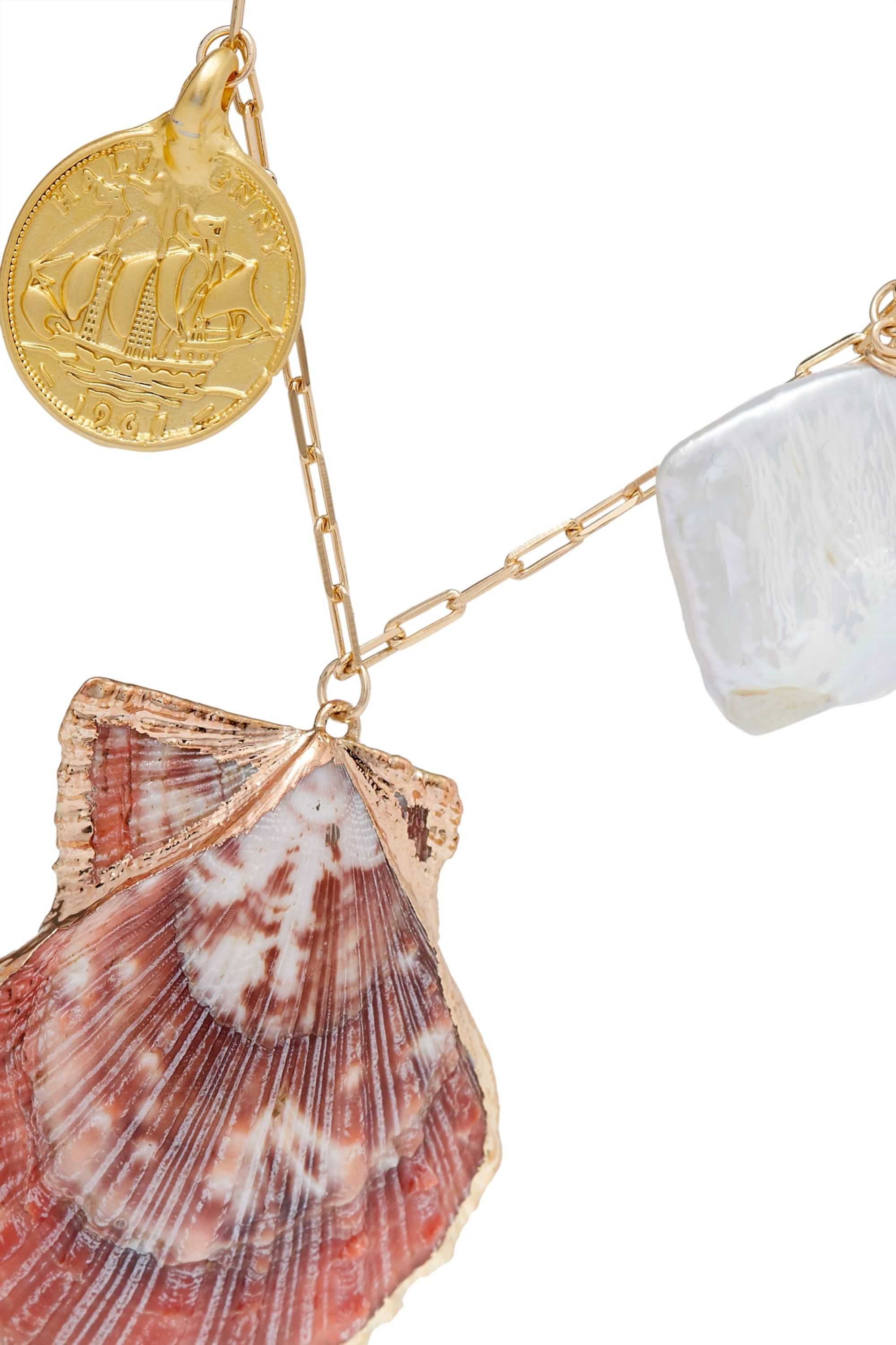 éliou Argos gold-filled, shell and pearl necklace