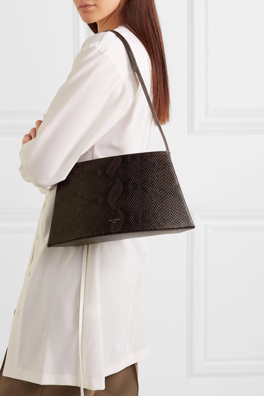 LOW CLASSIC Curve snake-effect leather shoulder bag