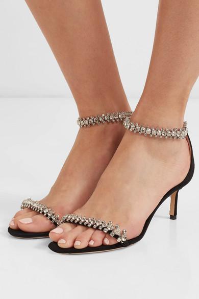 f2b93e6f198 Jimmy Choo | Shiloh 60 crystal-embellished suede sandals | NET-A ...