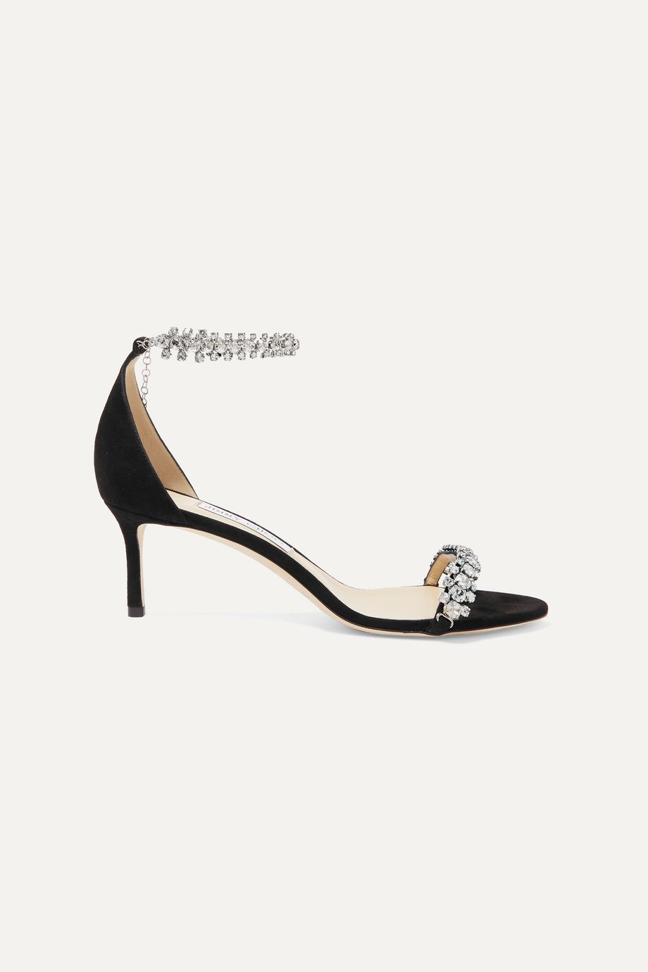 Jimmy Choo Shiloh 60 crystal-embellished suede sandals