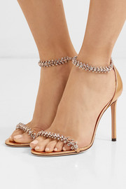 Shilo 100 crystal-embellished metallic leather sandals