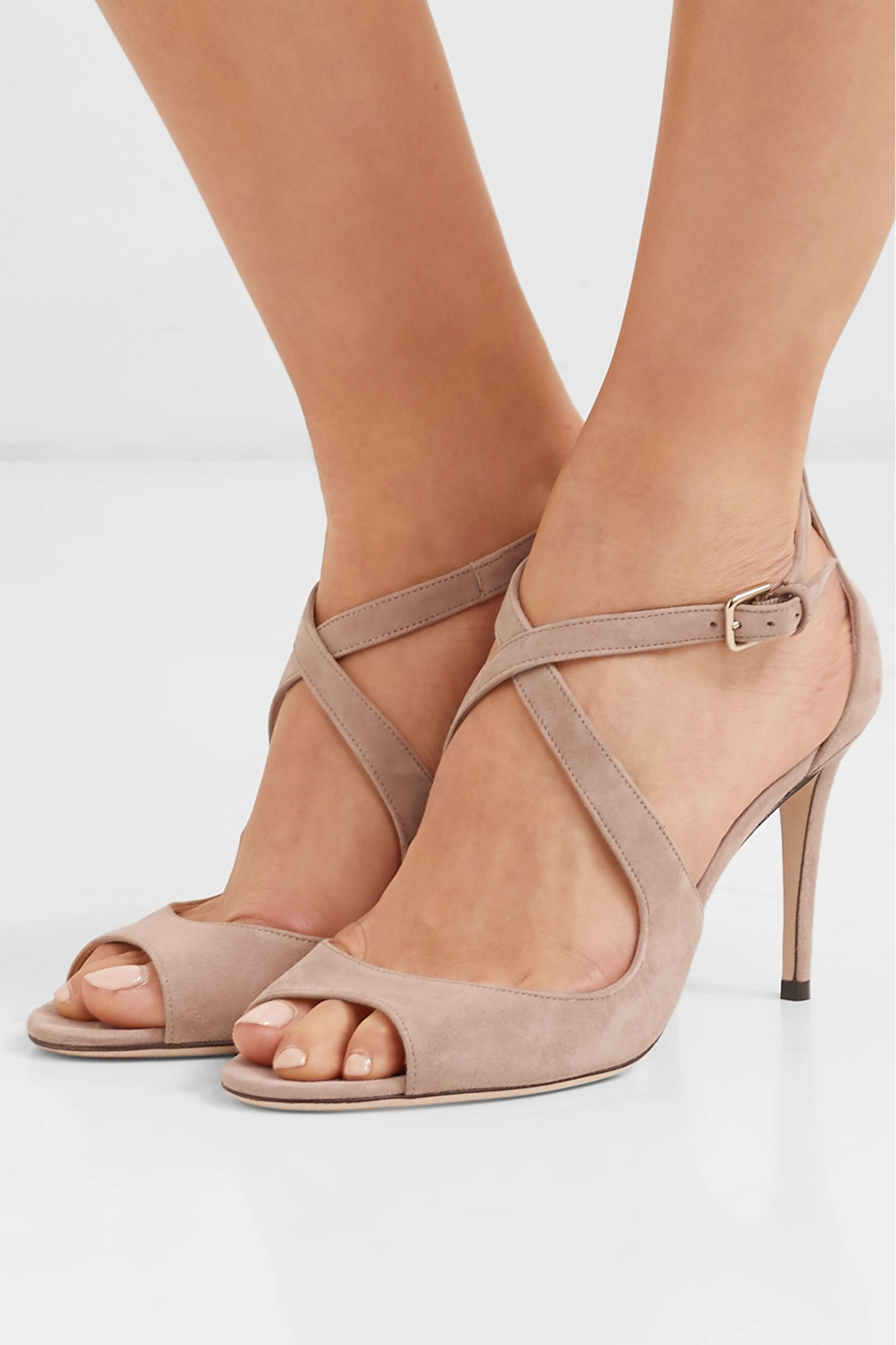 Emily 85 suede sandals   Jimmy Choo