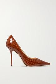 지미 추 Jimmy Choo Love 100 croc-effect leather pumps