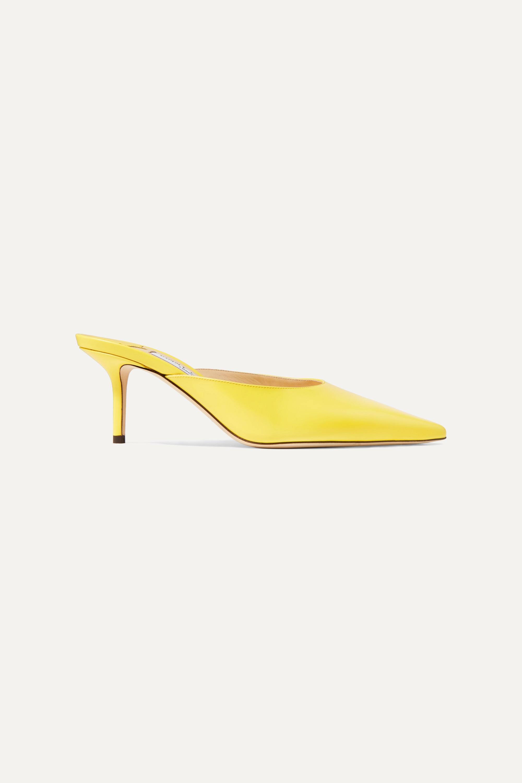 Yellow Rav 65 leather mules   Jimmy