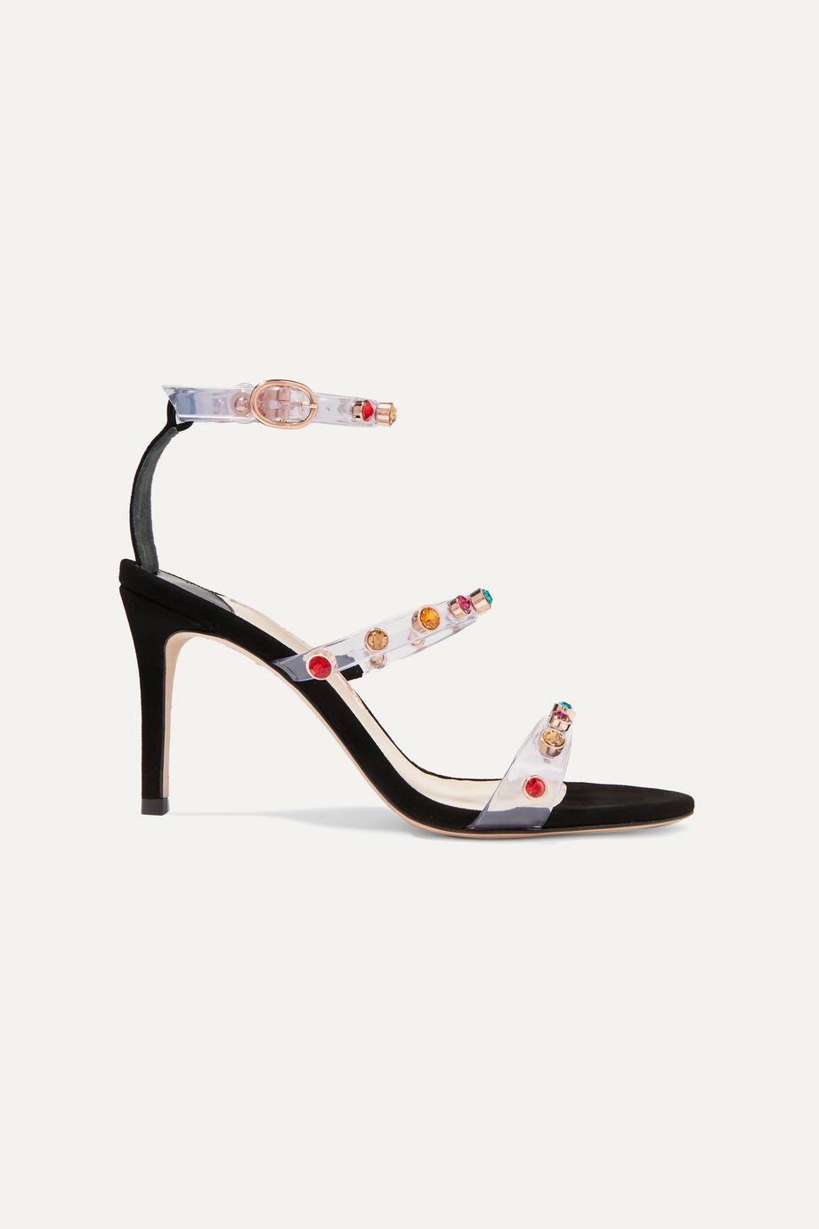 Sophia Webster Rosalind crystal-embellished vinyl and suede sandals