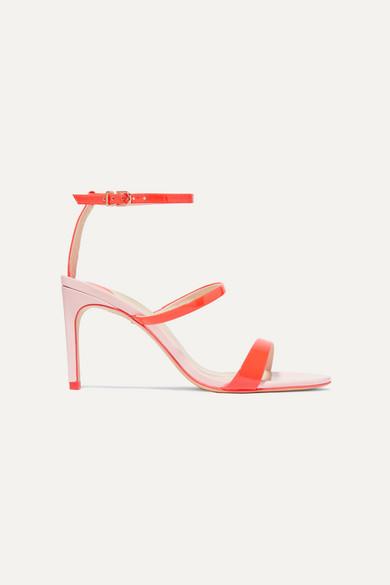 Sophia Webster Rosalind Two-tone Patent-leather Sandals In Orange