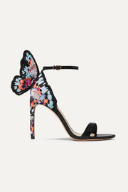 Sophia Webster Chiara embroidered leather and satin sandals