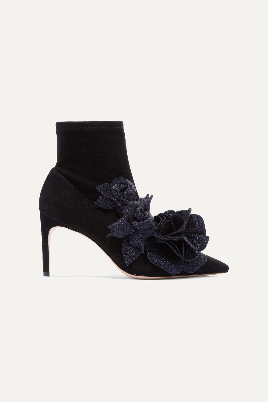 Sophia Webster Jumbo Lilico 贴花绒面革踝靴