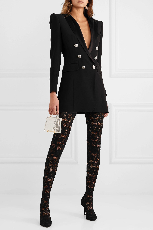Dolce & Gabbana Cuissardes en dentelle stretch et en tulle