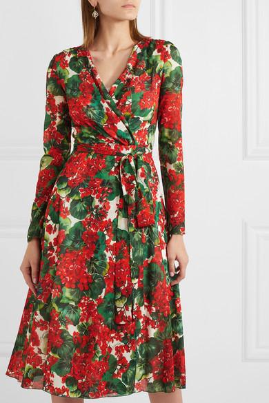 floral-print-stretch-silk-chiffon-wrap-dress by dolce-&-gabbana
