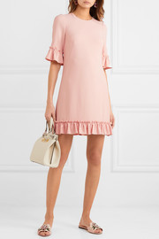 Ruffled cady mini dress