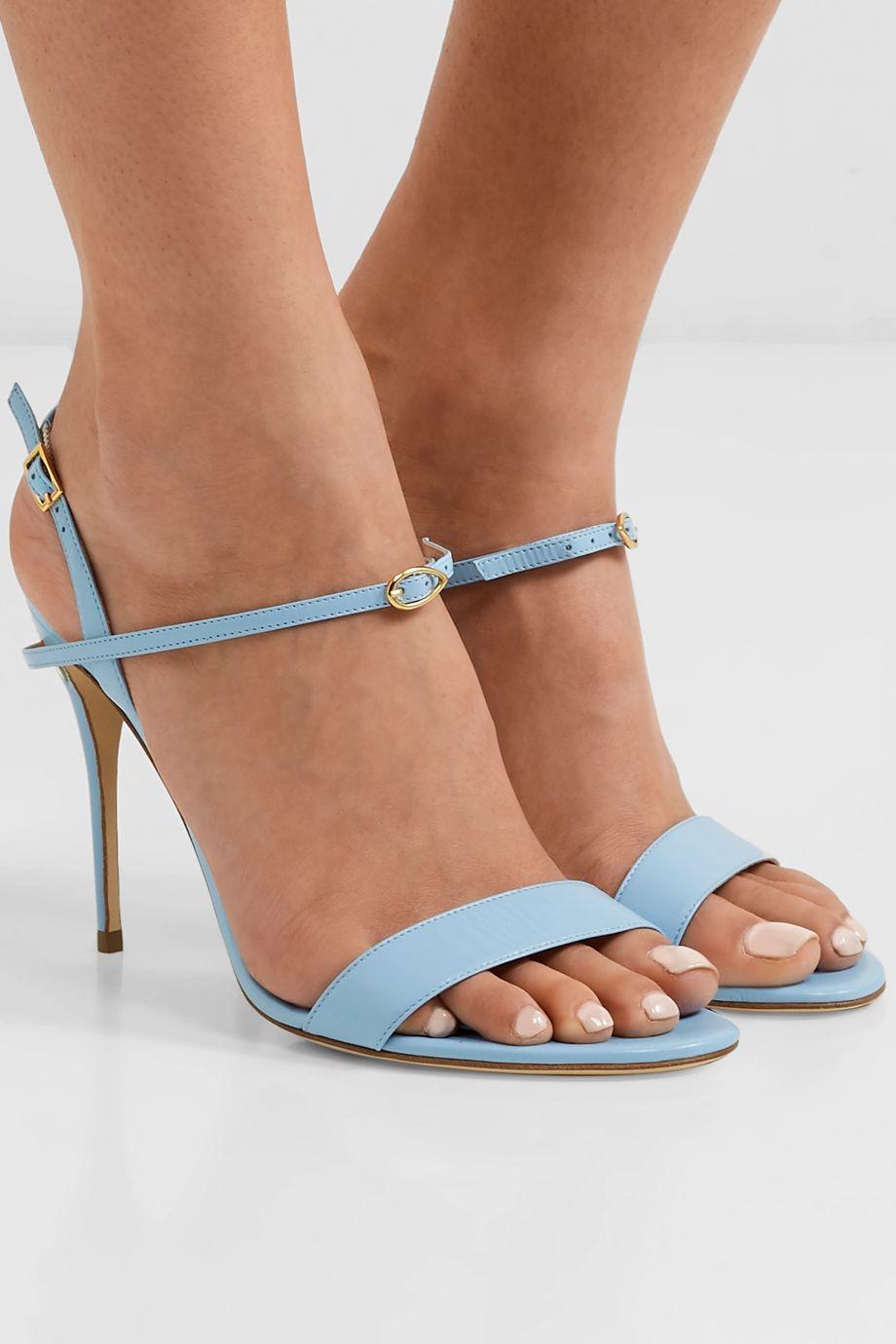 Jennifer Chamandi Tommaso 105 leather slingback sandals