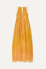 Agatha silk-gauze maxi dress