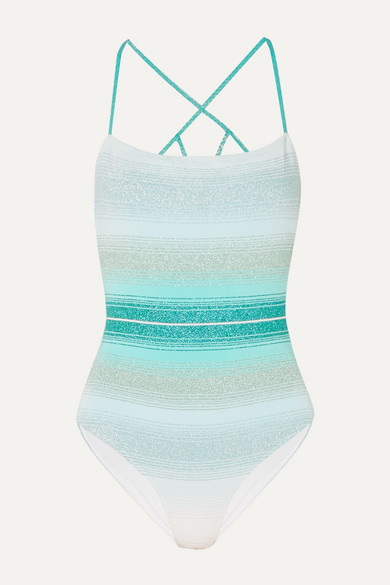 Mare Maglieria Metallic Crochet Knit Swimsuit by Missoni