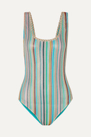 Missoni Mare Riga metallic crochet-knit swimsuit