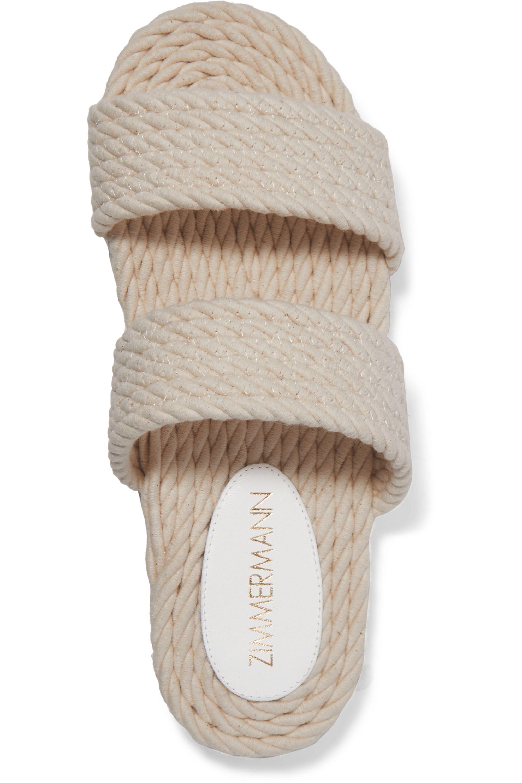 Zimmermann Claquettes en corde de coton