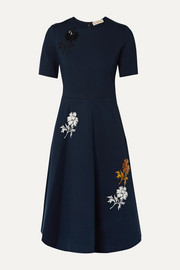 Tory Burch Sequined embroidered stretch-ponte dress