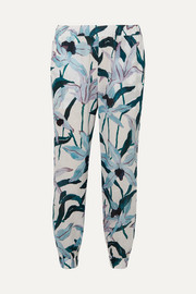 Tory Burch Floral-print cotton-voile pants