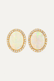 Kimberly McDonald 18-karat gold, opal and diamond earrings