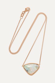 18-karat rose gold opal necklace