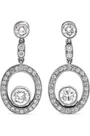 Collection 18-karat white gold diamond earrings