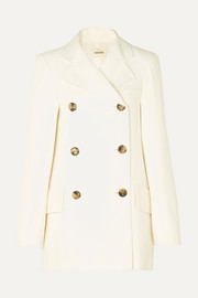 Khaite Clara double-breasted woven coat