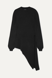 Khaite Esme asymmetric stretch-cashmere sweater