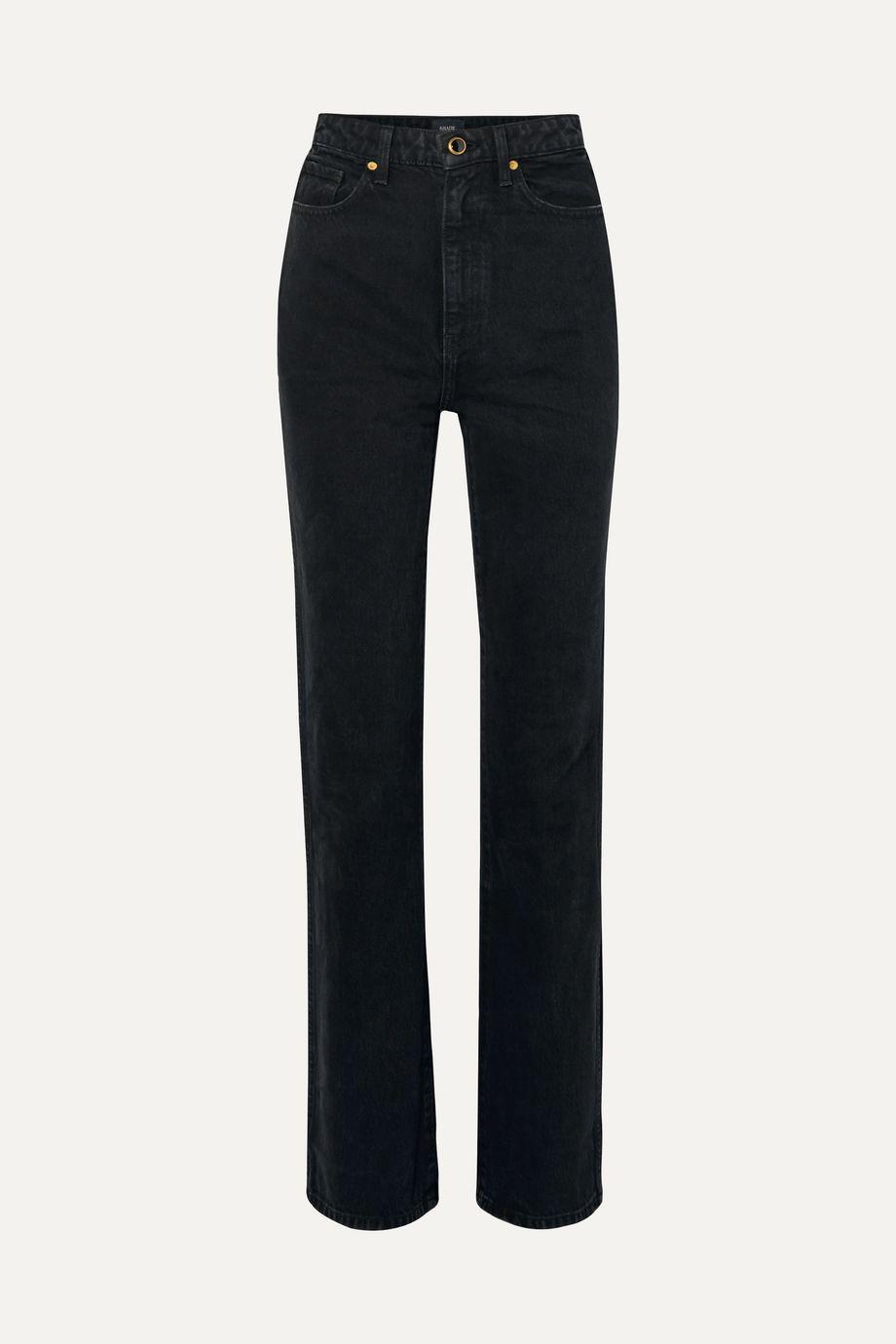 Khaite Danielle 高腰直筒牛仔裤