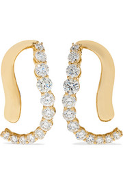 Aria Skye 18-karat gold diamond earrings