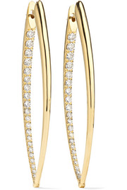 Boucles d'oreilles en or 18 carats et diamants Cristina XL