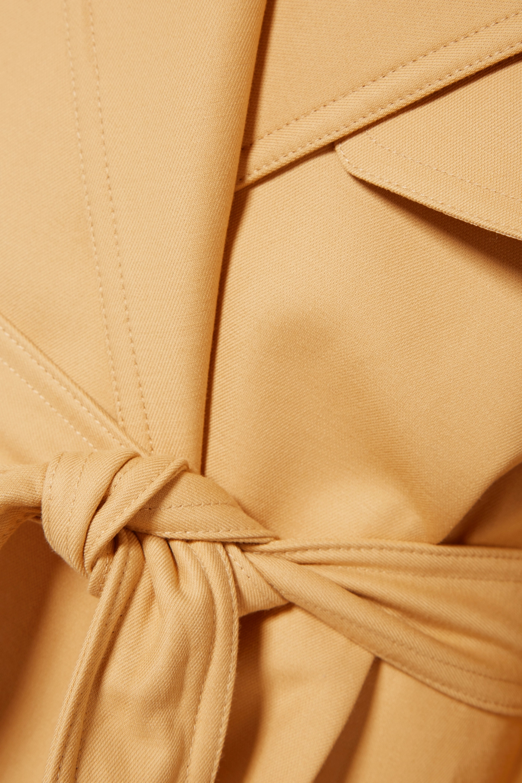 Khaite Matthias belted cotton-gabardine trench coat
