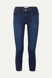 835 cropped mid-rise stretch skinny jeans