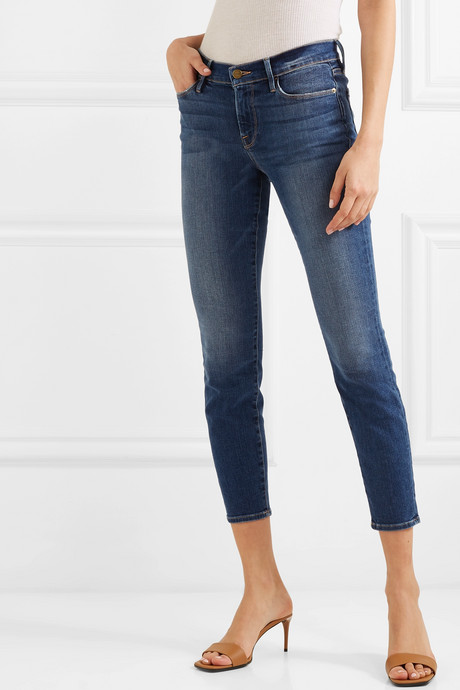 Le Skinny de Jeanne cropped high-rise jeans
