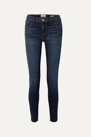 FRAME Le Skinny de Jeanne Raw Edge distressed mid-rise jeans