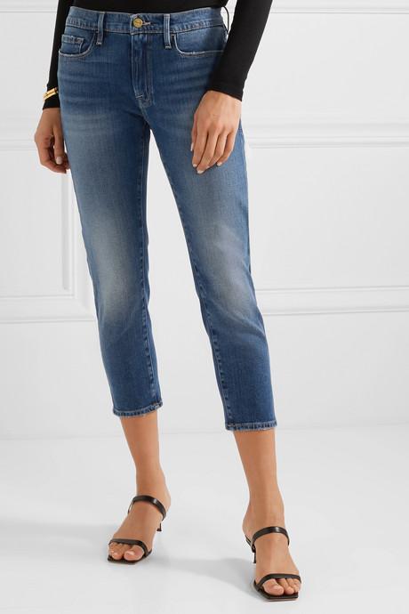 Le Garcon cropped mid-rise slim-leg jeans