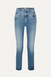 Retro V Yoke high-rise straight-leg jeans