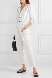 Painter cotton and linen-blend jumpsuit