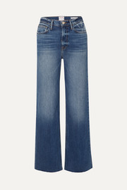 FRAME Le California frayed high-rise wide-leg jeans