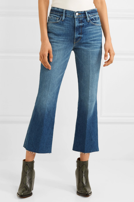 Le Sylvie cropped high-rise flared jeans