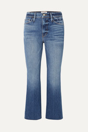 FRAME Le Sylvie cropped high-rise flared jeans
