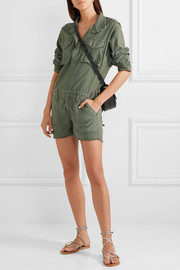 Service cotton-canvas playsuit
