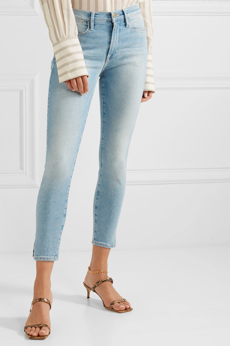Le High cropped skinny jeans