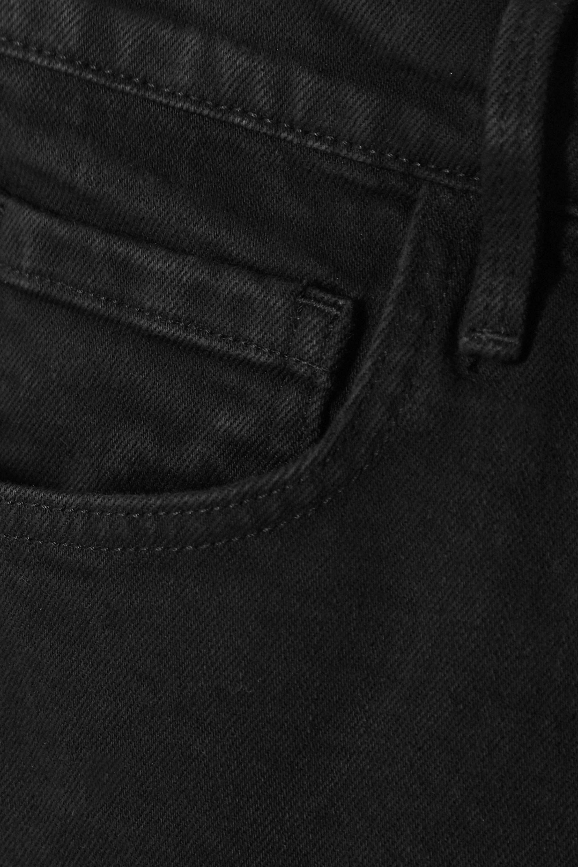 FRAME Le Vintage Bermuda frayed denim shorts