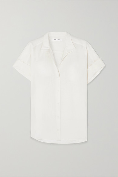 FRAME | FRAME - Linen-Blend Shirt - White | Goxip