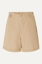 The Explorer linen and cotton-blend shorts